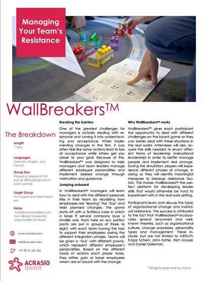 Business Game Wallbreakers