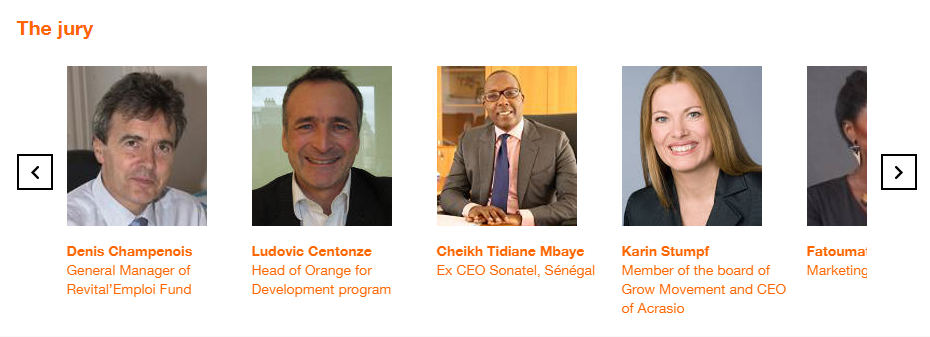 Jury of the Orange Social Venture Prize